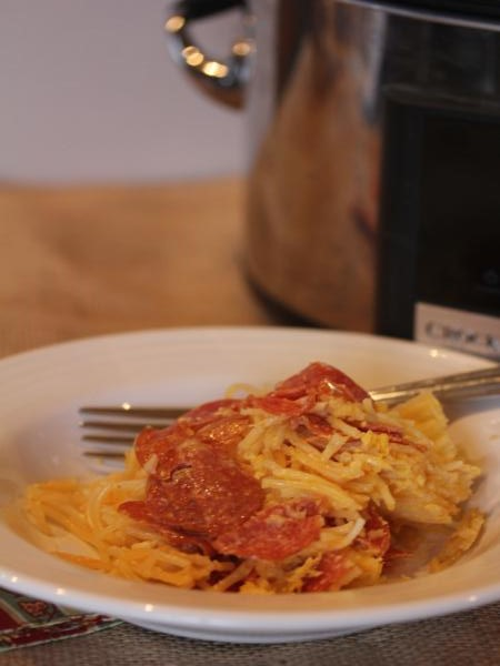 Slow Cooked Pepperoni Pasta