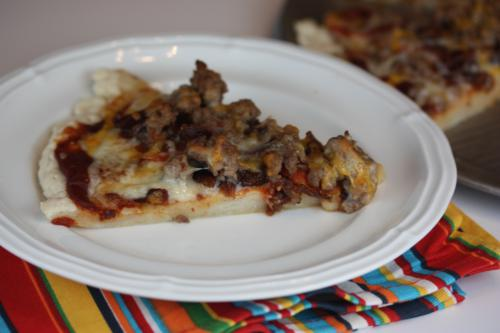 Triple Meat Pizza-