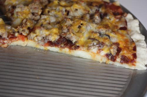Triple Meat Pizza