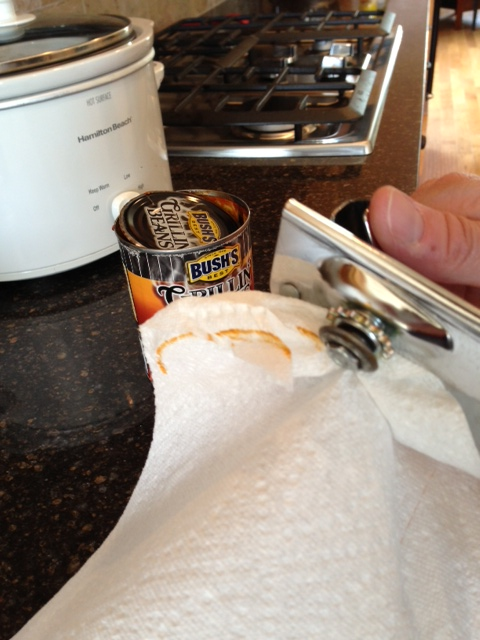 cleaning a can opener