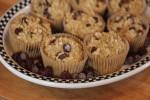 Dark Chocolate Cherry Breakfast Muffins