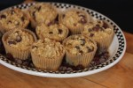 Dark Chocolate Cherry Breakfast Muffins