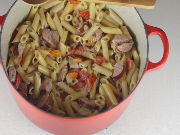 15 Minute Sausage Alfredo-