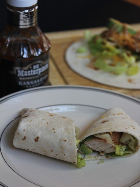 BBQ Ranch Chicken and Avocado Wraps_