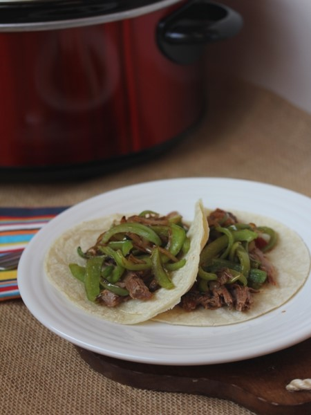Crock Pot Beef Fajitas-