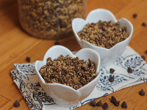 Peanut Butter Chocolate Granola-