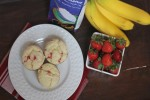 Strawberry Banana Pancake Muffins with Pamela's Artisan Flour Blend