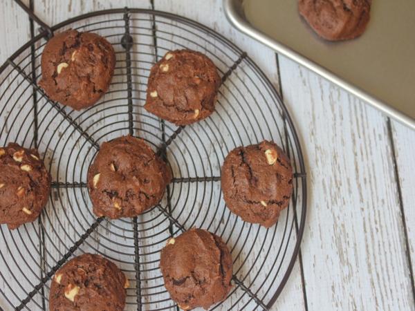Triple Chocolate Gluten Free Sour Cream Chocolate Cookies-