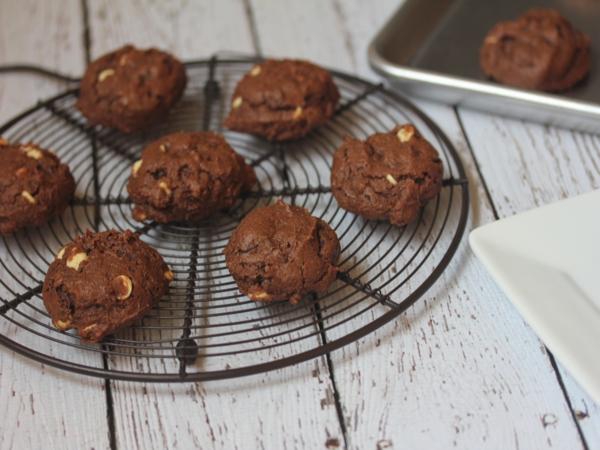 Triple Chocolate Gluten Free Sour Cream Chocolate Cookies