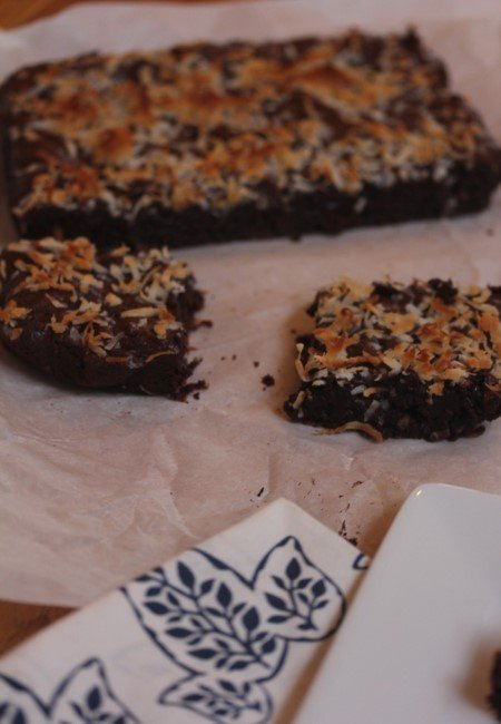 Coconut Brownies-