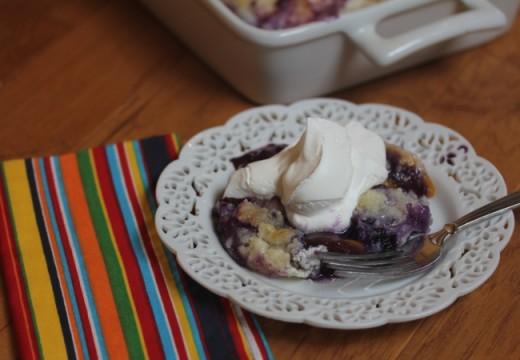 Easy Blueberry Peach Cobbler-