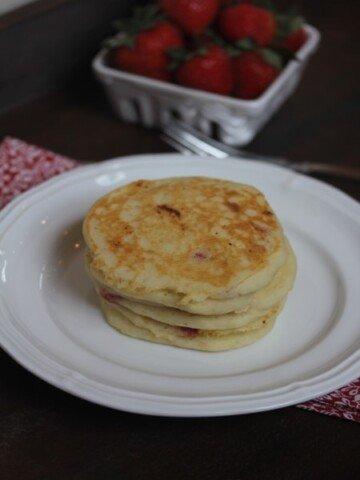 gluten free strawberry pancake