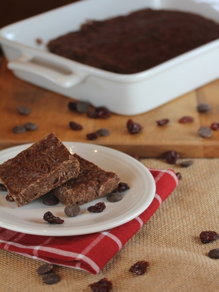 No Bake Chocolate Cherry Cookie Bars