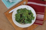 Spinach Salad with Dried Cherries {Cooking Through My Collection}