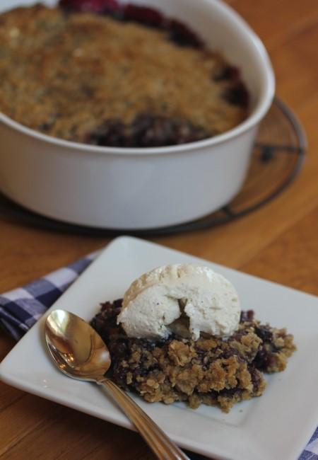 Gluten Free Blueberry Maple Crisp-