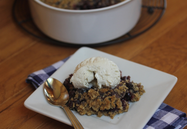 Gluten Free Blueberry Maple Crisp_
