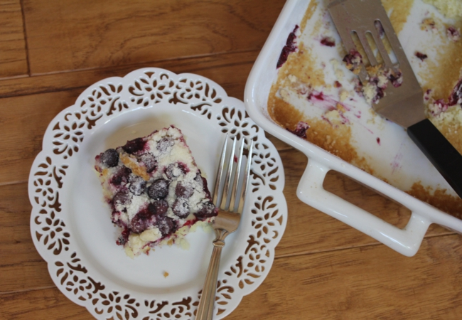 Gluten Free Blueberry Muffin Snack Cake-