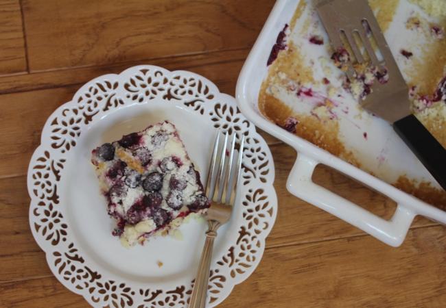 Gluten Free Blueberry Muffin Snack Cake-