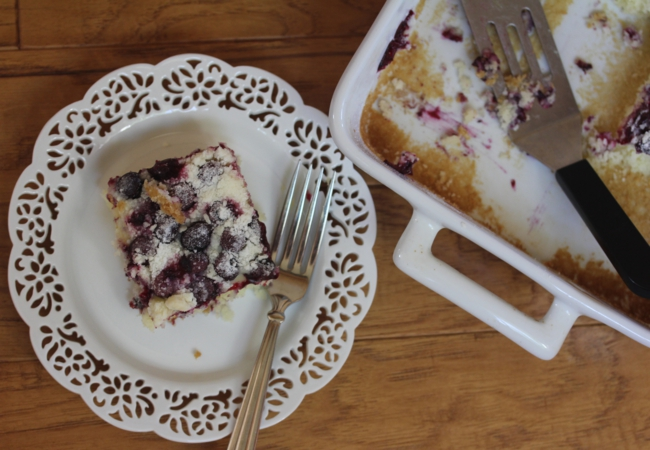 Gluten Free Blueberry Muffin Snack Cake