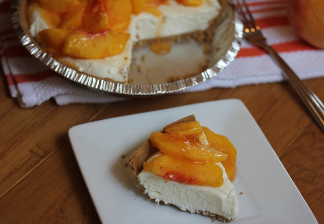 No Bake Peach Pie-