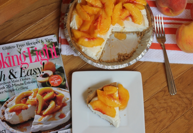 No Bake Peach Pie__