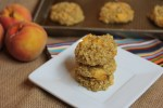 Peaches and Cream Baked Oatmeal Breakfast Cookies