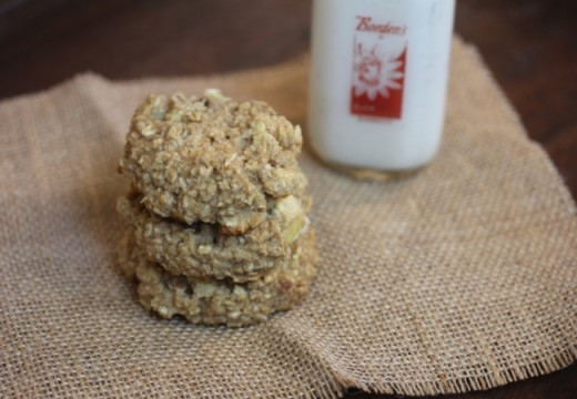 Apple Oatmeal Breakfast Cookies-