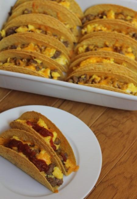 Baked Breakfast Tacos--