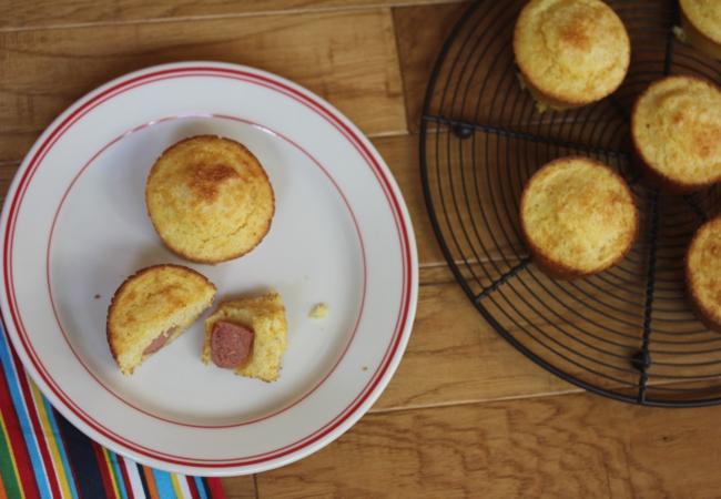 Gluten Free Corndog Muffins-
