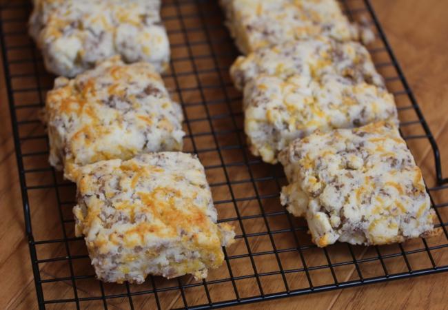 Gluten Free Sausage Cheddar Biscuits _