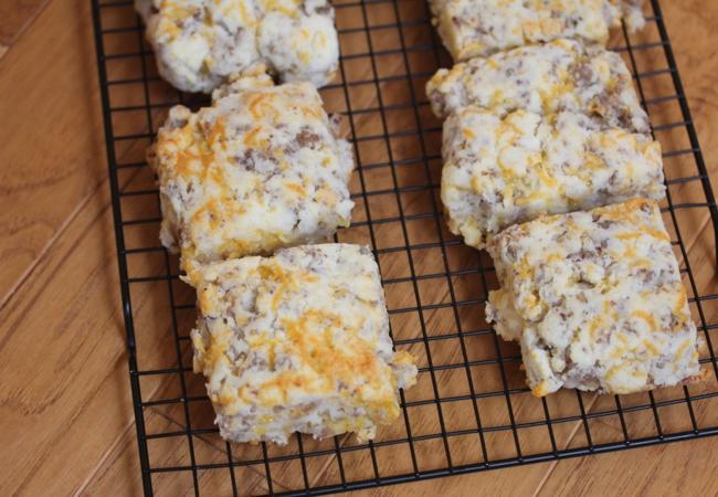 Gluten Free Sausage Cheddar Biscuits