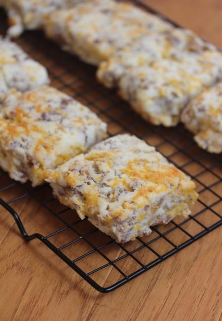Gluten-Free Sausage Cheddar Biscuits