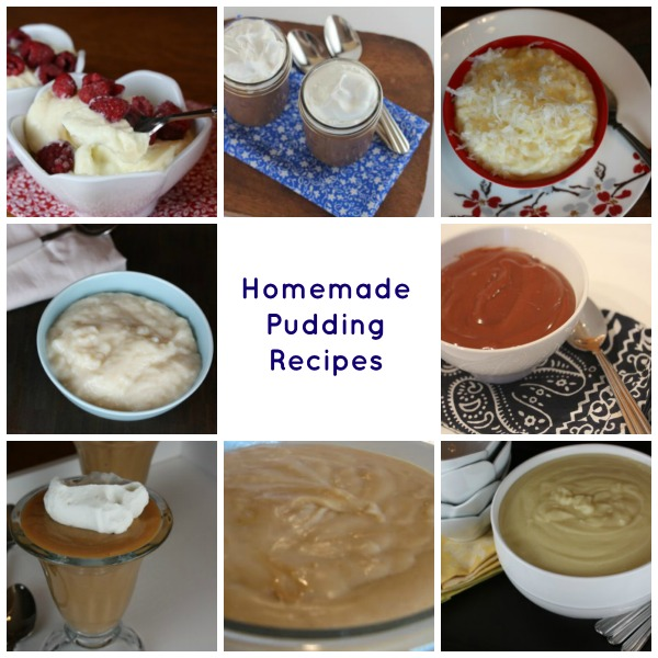 Homemade Pudding Recipes
