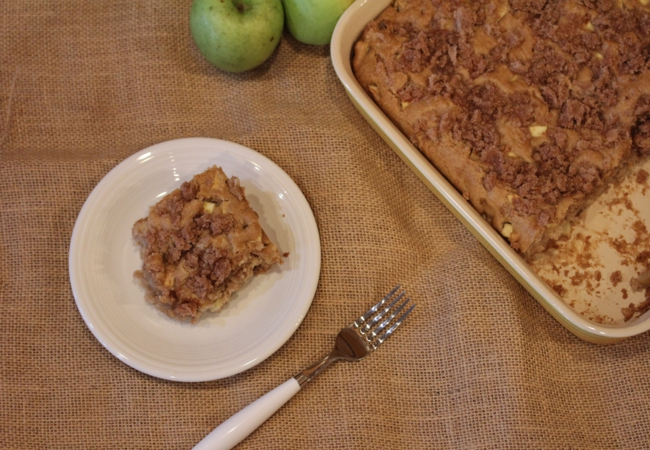 This recipe for mom's apple cake is a moist delicious apple cake ...
