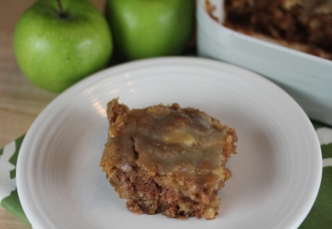 Gluten Free Fresh Apple Cake with Caramel Sauce