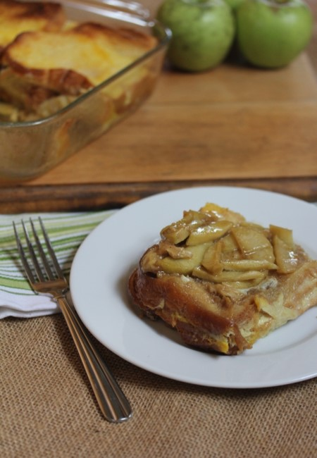 Overnight Oven Apple French Toast-