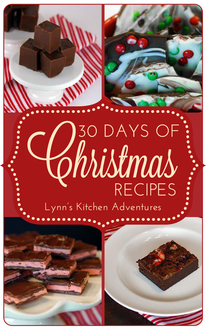 30 Days of Christmas Recipes from LynnsKitchenAdventures.com #recipes #christmas
