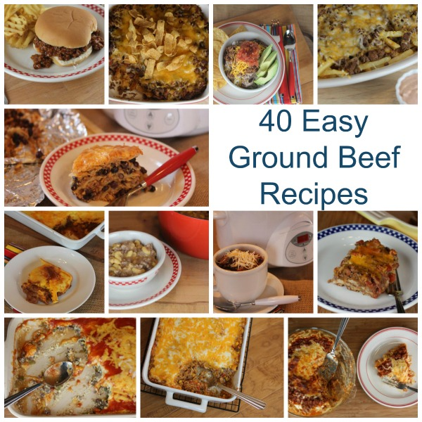 40 ground beef recipes lynn 39 s kitchen adventures for Quick and easy dinner ideas with hamburger meat