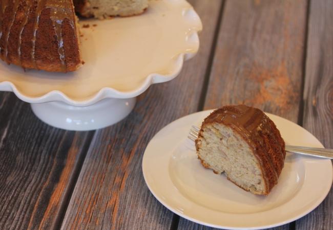 Gluten Free Banana Bundt Cake with Maple Glaze