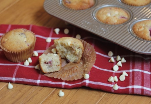 Gluten Free White Chocolate Raspberry Muffins-