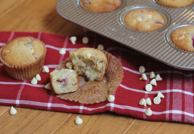 Gluten Free White Chocolate Raspberry Muffins-