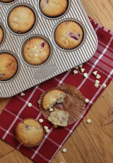 Gluten Free White Chocolate Raspberry Muffins