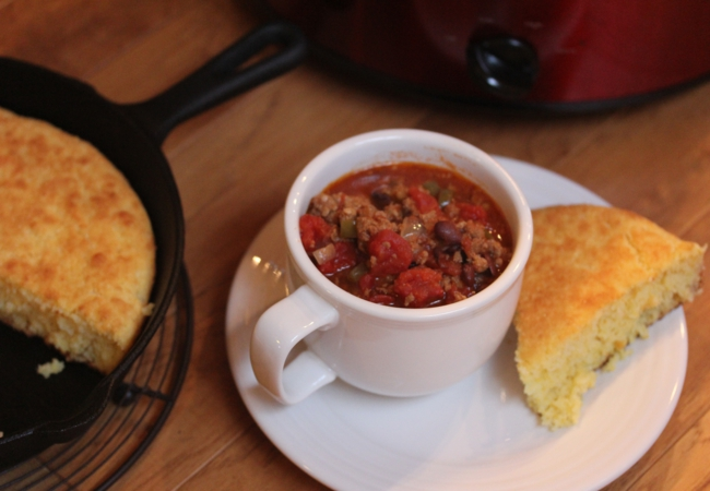 Slow Cooked Sausage Chili-