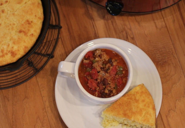 Slow Cooked Sausage Chili_