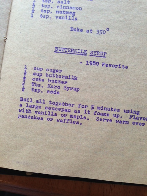 buttermilk pancake syrup cookbook