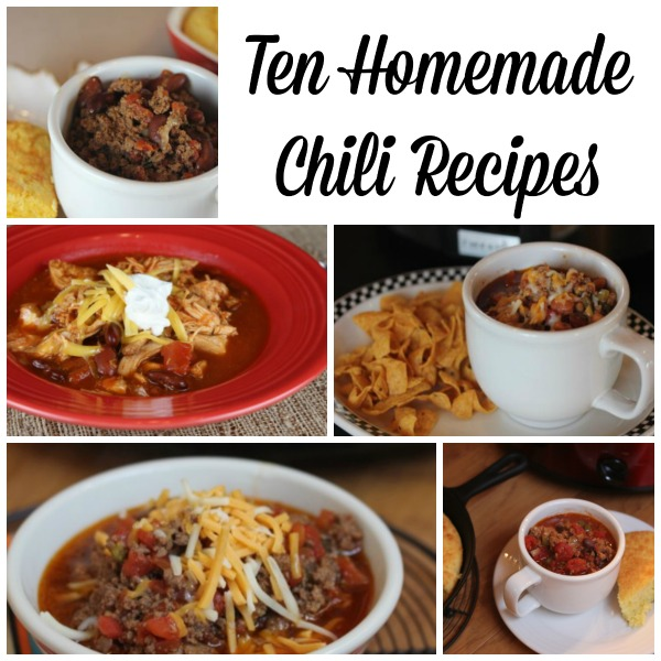 10 Homemade Chili Recipes