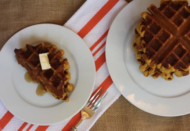 Easy Gluten Free Pumpkin Waffles