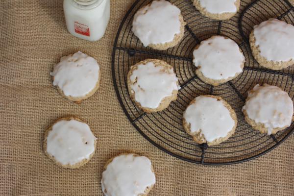 Gluten Free Iced Oatmeal Cookies-