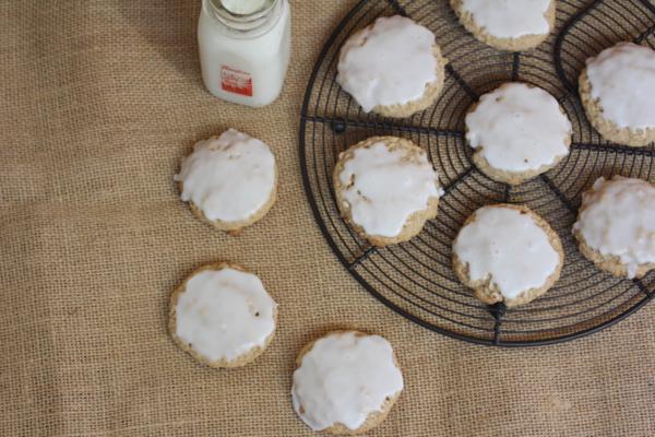 Gluten Free Iced Oatmeal Cookies
