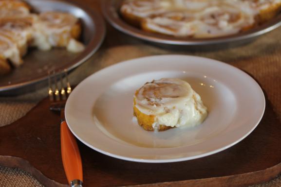 Gluten Free Pumpkin Cinnamon Roll